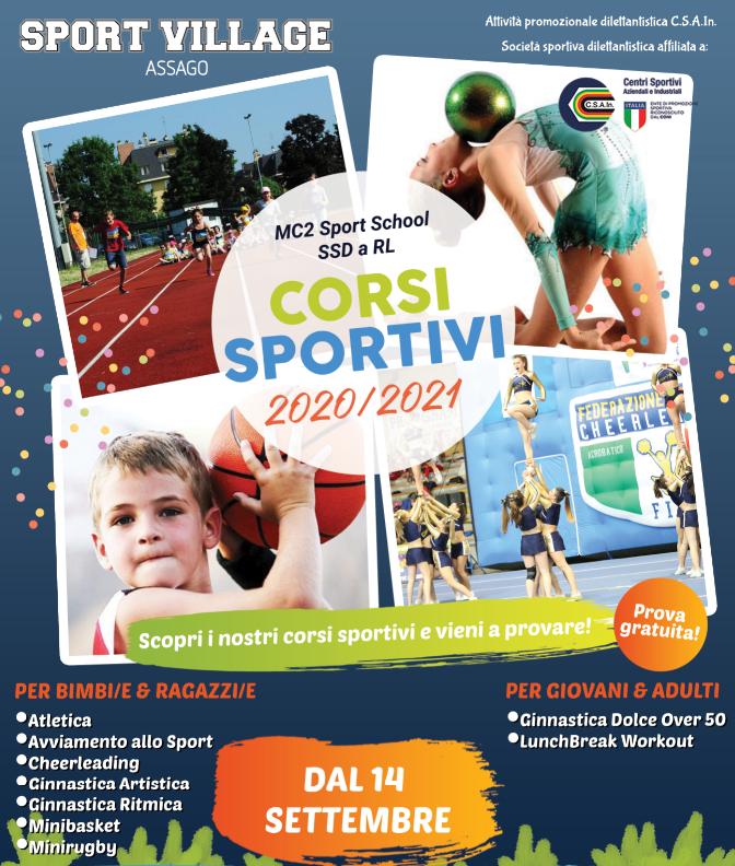 Inizio Corsi Sportivi 2020-2021!
